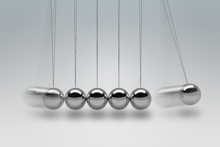 3D rendered illustration of Newton cradle. Stock Photo