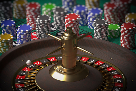 3D rendered illustration of casino roulette. Gambling concept. Stock Photo