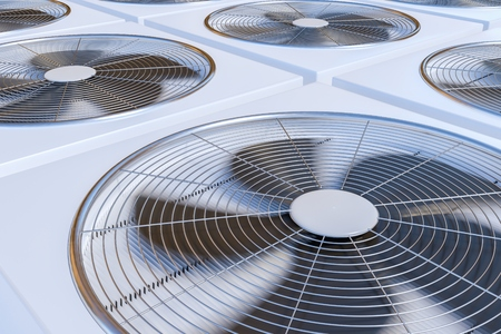 3 D レンダリング、HVAC ユニット (暖房、換気および空気調節) のイラストです。 写真素材