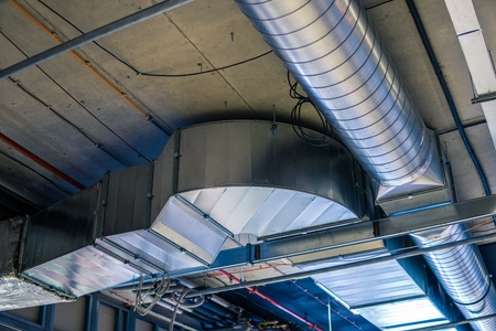 Pipes of HVAC  system (heating ventilation and air conditioning). Standard-Bild
