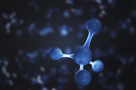 메탄 또는 암모늄 분자. 과학 개념입니다. 3D 렌더링 그림. 스톡 콘텐츠