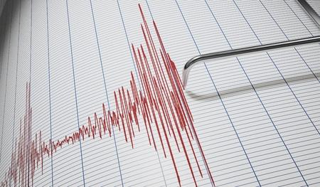 Rilevatore di bugia o sismografo per il rilevamento dei terremoti. 3D rendering illustrazione. Archivio Fotografico - 96945753