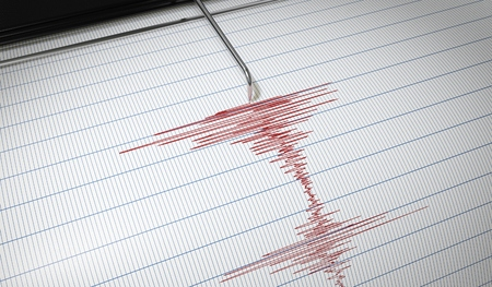 Lie detector or seismograph for earthquake detection is drawing chart. 3D rendered illustration. Stock Photo