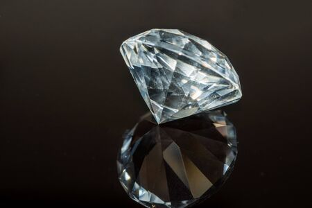 Luxury diamond on black 스톡 콘텐츠