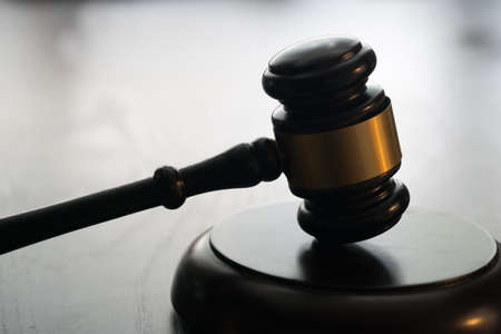 Gavel on bright background. Law and justice concept.