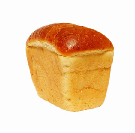 Loaf of bread isolated object over white background photo