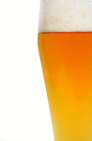 Barmy beer over white background Stock Photo - 1894937