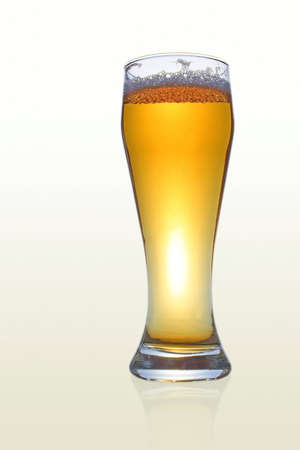 Barmy beer over white background Stock Photo - 1894928