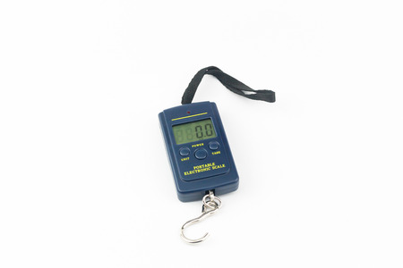 portable: Portable Electronic Scale isolated on white background Stock Photo