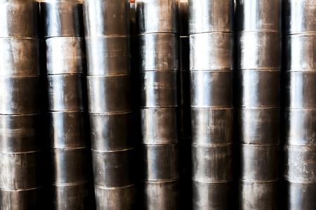 metal pipe: large black metal pipe  set up high roll as background