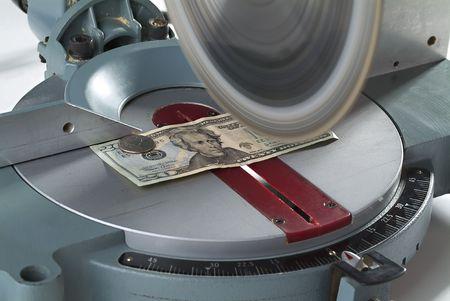 miter: Cutting costs. Money on miter saw. Horizontal