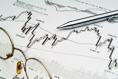 Business Bild von B�rsen-Chart-Analyse