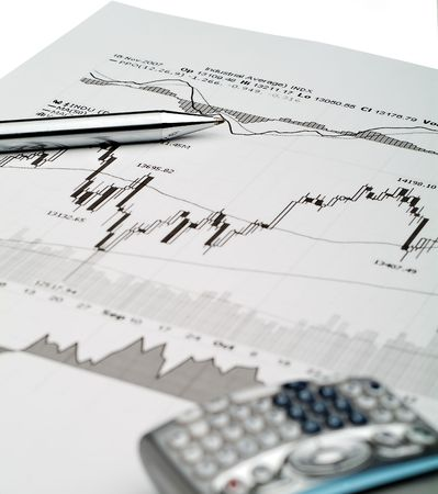Business image of stock market chart analysis