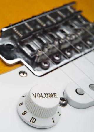 Closeup of electric guitar volume knob