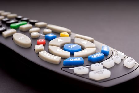 Macro of a digital cable TV remote
