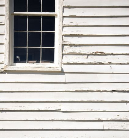 compostion: graphic compostion of a window on an old wooden building