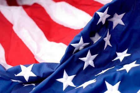Closeup of an American flags