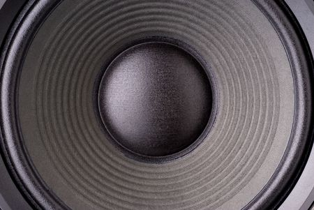 Closeup of a loudspeaker