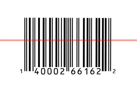 読み取ったバーコードのマクロ写真