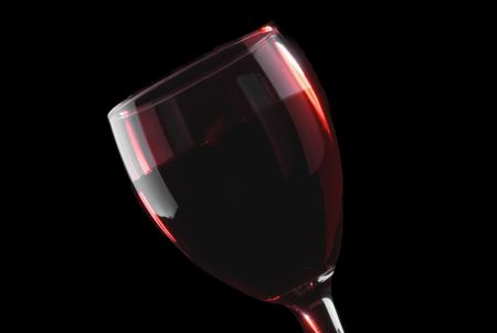 Low key red wine glass on a black background Stock Photo - 2997097
