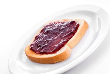 Fresh grape jelly on toast