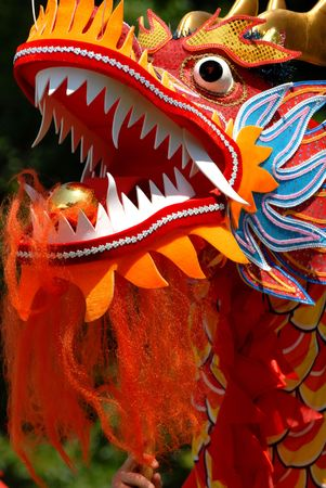 A Chinese Dragon head Stockfoto