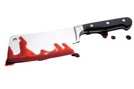 Een bloedige slagersmes