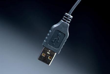 Black USB comouter cable