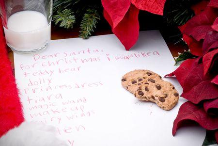 Navidad del ni�o lista de deseos