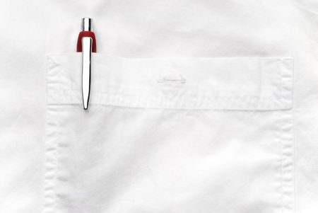Pen in a shirt pocket