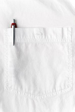 Pen en un bolsillo de camisa Foto de archivo