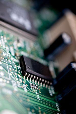 Extreme close-up of a circuit board   Фото со стока