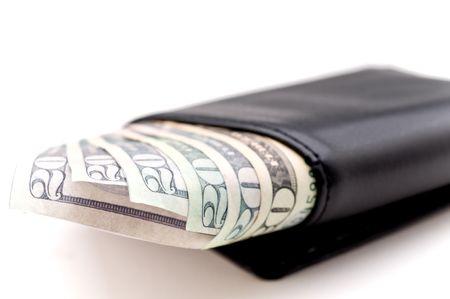 Bills in a wallet Banco de Imagens