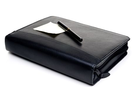 Day planner with a blank note and pen Zdjęcie Seryjne