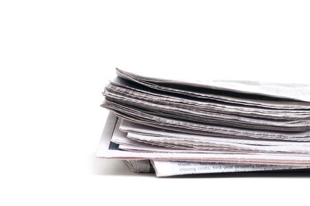 Closeup of the end of a newspaper Imagens - 3923689
