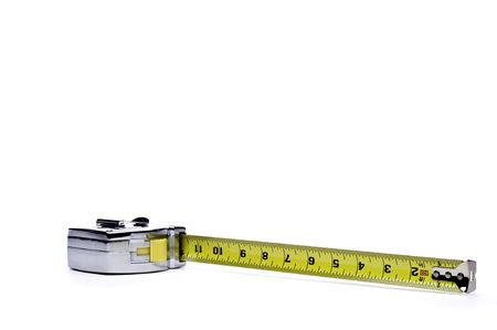 standard steel: Horizontal view of a metal locking tape measure