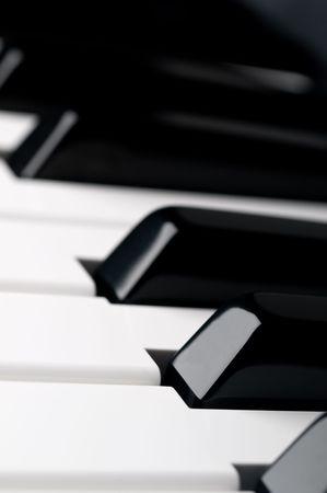 얕은 피사계 심도 피아노 키보드 키 닫습니다 스톡 콘텐츠