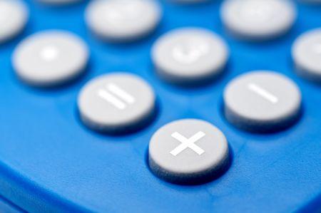 Shallow focus macro of buttons on a calculator Reklamní fotografie