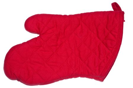 Close up of a red oven mitt 写真素材