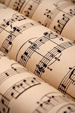 Rolls of sheet music (public domain) Stock Photo - 5594731