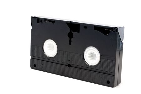 Horizontal image of an old video tape