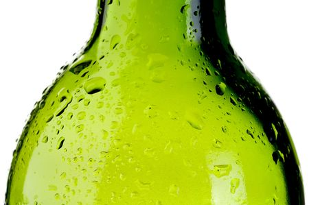 abstract close up of a cold wet green bottle Stock Photo - 6575903