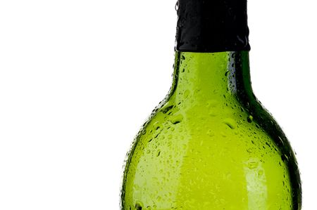 abstract close up of a cold green bottle  with copy space Imagens
