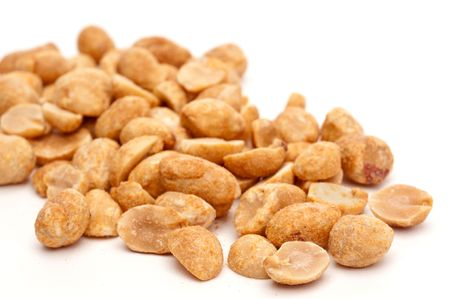 a shallow focus macro image of peanuts Imagens