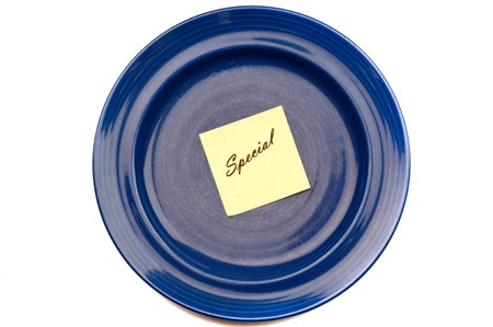 Blue plate special, with  Stock Photo