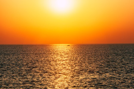 lake sunset: Dawn or sunset on the sea, the ocean, the lake. Beautiful view. The sun is visible.