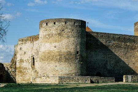 Belgorod-Dniester fortress. Ackermann. Photos of walls and towers of fortifications. Fortress in the spring