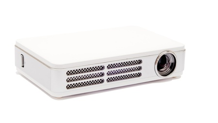 Isolated pico projector on the white background Stock Photo
