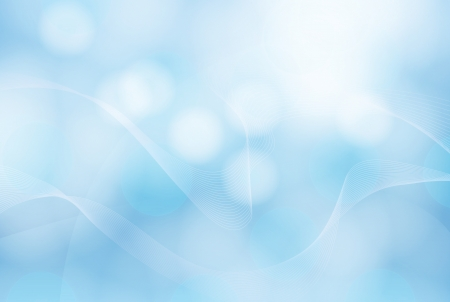 Blue abstract bubble background Stock Photo