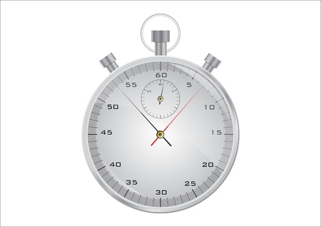 Isolated stopwatch on the white background Vector